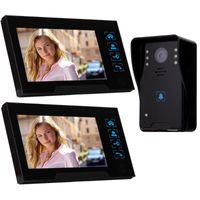 ! 7 pouces TFT touch écran couleur vidéo téléphone portes CMOS Night Version caméra Système d'interphone 1 à 2 cloches