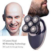 3in1 المهنية الكهربائية ماكينة حلاقة usb قابلة للشحن الرجال القابلة للغسل خمسة رؤساء العائمة الحلاجين الشعر المقص الأنف الأذن الشعر المتقلب 210326