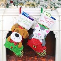 Мода собака кошка конверт носки рождественские украшения кулон чулок веселые украшения рождественские подарки оптом