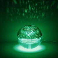 Kreative Kristallprojektionslampe Luftbefeuchter USB Große Kapazität Haushaltsluft-Mini-Luftbefeuchter
