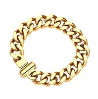1Pcs Beaded Strands Punk Heavy Metal Big Thick Chain Bracelet Set Women Retro Geometric Twist Bangles Fashion Jewelry