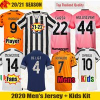 Fans Version du joueur Human Race Juventus 4ème quatrième maillots de football HRFC RONALDO DE LIGT KULUSEVSKI 20 21 22 DYBALA 2021 JUVE Hommes Kit enfants