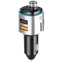 Auto Wireless Bluetooth Transmitter Car Audio Kit Handsfree FM Transfer LCD MP3 Player,Dual USB Port QC3.0 Fast Charging