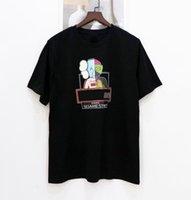 Hommes Styliste T-shirt Kaws Animation 3D Impression Hommes Femmes Casual Tees Haute Qualité Noire Blanc Blanc Jaune Couples Robe Robe De Marque Taille S-3XL
