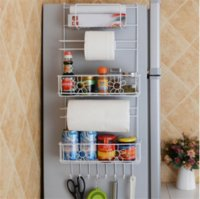 Refrigerator Rack Side Shelf Sidewall Holder Multifunctional Kitchen Supplies Organizer Household Multi-layer Fridge Storage Racks
