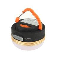 1800mAh Power Bank Camping Light Magnet 3 modes Lanterne rechargeable / batterie sèche portable LED de la tente USB