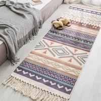 Bohemia Minimalist Fringed Cotton And Linen Small Fresh Floor Pad Living Room Bedroom Bedside Foot Retro Ethnic Wind Blanket Carpets