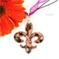 우아한 반짝이 fleur-de-lis fleurdelis lampwork 무라노 유리 이탈리아 목걸이에 대 한 펜던트 중국 패션 쥬얼리 mup070