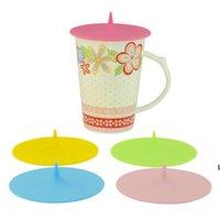Kreativer Wassertropfen-Silikon-Becher-Deckel-bunte Tasse-Abdeckung umweltfreundliche dichtliche Tasse-Kappe 5 Farben 10cm DHC7227