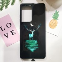 Cell Phone Pouches Led Call Light Tempered Glass Case For Samsung Galaxy A50 A70 S20 Note 20 Ultra A71 A51 10 Plus 9 A30 A40 A21