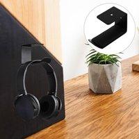 Hangers & Racks 1 Set Of Drill-free Headphone Holder Iron Stick-on Headset Stand Mount