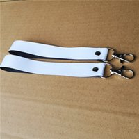 sublimation polyester white blank keychains key ring heat transfer printing blank diy materials