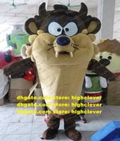 Cute Brown Tasmanian Devil Bugs Bunny Mascot Costume Wild Boar Pig Swine Sus Scrofa Mascotte Costumes With Sharp Tooth Big Eyes No.4430 Free Ship