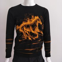Персонализированное пламя огня лошадь шаблон 3D печать модный свитер Spring2021 качество мягкий гладкий упругий пуловер M-3XL мужские свитера