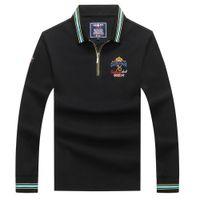 Estilo europeo camisas rayas de hombre algodón Kenty Shark Brand Polo Shirt de alta calidad Bordado Tops TOUS TEES Regalo para los hombres