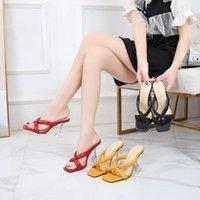 Dress Shoes Big Size 45 46 Women Pumps Elegant Square Toe Herringbone High Heels Wedding Crystal Clear Heeled Slingback Sandals