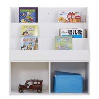 Çocuk Çocuklar Beyaz Kitaplık Kitap Raf Kitaplık Depolama Ekran Raf Organizatör Tutucu 3-Layer 73 * 30 * 80 cm Çocuklar için