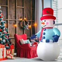 Opblaasbare Sneeuwman 6-voet Opblaasbare Kerstmis Sneeuwman Tuin Decoratie met LEIDENE Lichten Openlucht Kerstmis Decoraties hete G0915