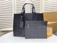 Роскошная дизайнерская сумка для мужчин Портфель M57290 Кошелек Бизнес Сумки Тотаны Женщины Сцепление Cabas Voyage Дизайнеры Кошелек Сумки