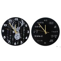 الصناعية الحديثة ساعة الحائط الفن الأمريكية شخصية غرفة المعيشة الساعات الرئيسية مكتب المدرسة خمر ديكور BWD6220