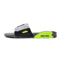 2021 diseñadores de moda plana 90 zapatillas de cojín zapatillas flip flops espuma corredor hombre sandalia negro resina playa mocasines con caja 36-45