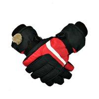Mot de moto Mitaines et chevaucheuses femmes extérieures chaudes étanche hiver épaississement fourrure fourrure intégré gants de ski intégré