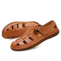 Sandals Men's Summer Genuine Leather Shoes Fashion Brand Adult Male Footwear Man Casual Leisure Plus Size 13 Sandalias Hombre