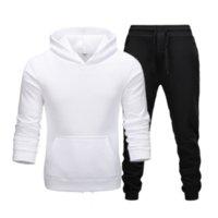 Men's Tracksuits Winter Suits Men Fashion Fleece Red Hoodie Black Brand Pants Casual Jogger Tracksuit Sweatshirt
