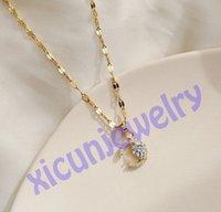Null Profit Designer Buchstaben Halsketten Silber Diamant Halskette für Frauen Kristall Anhänger Schlüsselbein Kette Bankett Schmuck offen als c