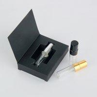 3ml Sprühflaschen Verpackungsbox und Glasparfümflasche mit Zerstäuber Leere Parfum Verpackung benutzerdefinierte Probenprüfung PAFUM-Gehäuse