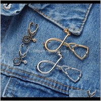 Pins, Brooches High Quality Stethoscope Brooch Pin For Nurse Medical Student Graduation Gift Physician Jewelry Creative Aessories Lapel Badg