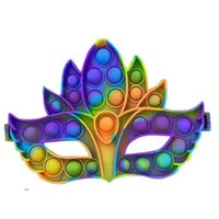 Poussoir Bubble Fidget Jouet Rainbow Masquerade Masque Poo-Son Stag Hen Parti Ballons Fancy Robe Masques Vavange Facrenu Facem Halloween Christmas de Noël Cosplay Lunettes H918S278