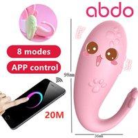 abdo приложение дистанционное управление силиконовые монстр паб вибратор bluetooth беспроводной gspot массаж 8 частоты взрослых игра секс игрушки для женщин Y201118