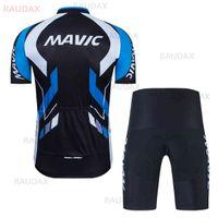 Mavic 2021 New Pro Team Велоспорт Одежда Летний Велосипед с коротким рукавом Велоспорт Джерси Установить дышащий MTB гоночный спортивный велосипед Джерси X0503