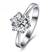 Ringe Schmuck Cubic Zirkonia Ring für Frauen Männer 925 Sterling Silber Ringe Zubehör Romantische Hochzeit Damen Ring 867 Q2