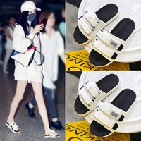 Slippers for Women to Wear Summer 2021 New Korean Fashion Net Red Versatile Couple One Word Beach Thick Bottomed Cool Slippers
