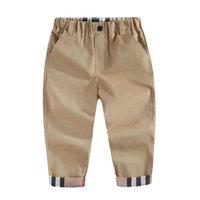 Мода Trend Весна Дети Мальчики Бренд Плед Брюки Случайные Осенние Младенческие Детские Одежда Высокое Качество Новорожденные Детские Спортивные брюки