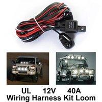 Andere verlichtingssysteem Universele 12V 40A auto Mistlamp bedrading harnas kit weefgetouw met zekering en relaisschakelaar voor LED-werk Rijbalk