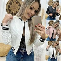 GAOKE Autumn Winter Leisure Fashion Women Jacket O-neck Zipper Stitching Quilted Bomber jacket Coats Short 211008