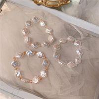 Charm Bracelets Women Korean Design Crystal Bracelet Creative Diamond Hand Beaded Pearl Catenary Jewelry
