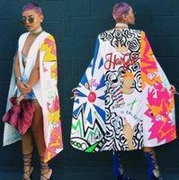 2017 봄과 가을 캐주얼 성격 여성용 케이프 대형 망토 인쇄 패션 긴 정장 재킷 코트 긴 맥시 래핑