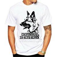 Camisetas para hombres Ocio O-cuello Camiseta impresa Hombres Hombres Alemán Pastor - Perro Top Diseño Para Hombre Para Mujeres Tamaños De Bebé