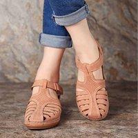 Sandals Comfortable Beach Hook Lus Wiggen Casual Sho Women Footwear Plus Size 35-43