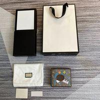 Высококачественные дизайнеры Короткие кошельки Мужские для женщин Настоящая Кожа ПВХ Бизнес Держатель Кредитные Карты Мужчины Мужские Женщины С Коробка 11 см * 9см