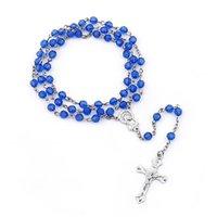Pendant Necklaces Jesus Cross Rosary Necklace Vintage Jewelry 2021 Trend Catholic Zinc Alloy Accessories Wholesale
