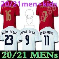 2021 Team National Adult Kit de football Jerseys Ronaldo Joao Felix Home Away Yout Chemise de football 20 21 Portugal Hommes Ensembles Camisa de Futebol