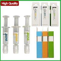 Alta Qualidade Pura One Disable Lure Lure Syringes Bag 1ml Cartuchos Vape Tailândia Armazenamento De Óleo Siringe Caixa de Embalagem à prova de criança com marcas de medição