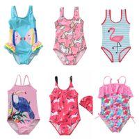 Yaz Mayo Çocuk Mayo Tek Parça Bebek Kız Moda Karikatür Bikini Çocuk Yüzmek Plaj Giyim Prenses Etek Giyim Satılık G54IFAF