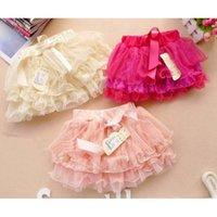 Gonne a più livelli Vestiti per bambini Mini Baby Girls Tutus Fashion Bowknot Princess Bambini Abbigliamento Bambini Cute Pizzo corto
