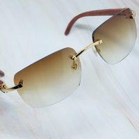 Square Wood Designe Shades Men Sunglasses Carter`s Buffs Sun Big Fashion Women Rimless Glasses Eyewear Otiqr Fuvoi